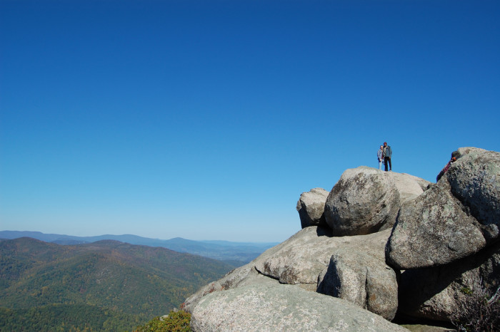NOW: Old Rag Mountain, located just off the Skyline Drive, is one of the most popular hikes on the East Coast.