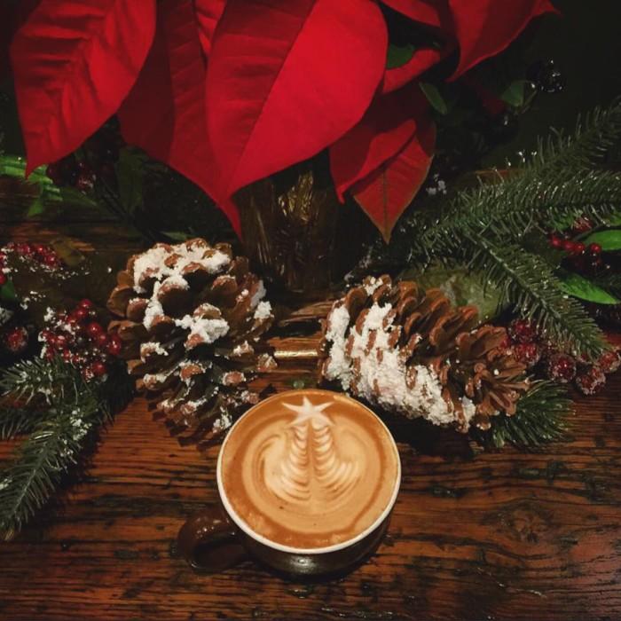 Purdy's Coffee Co Celtic latte.