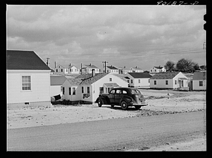 1. The Sunset Village housing project for defense workers at the Radford powder plant, October 1941.