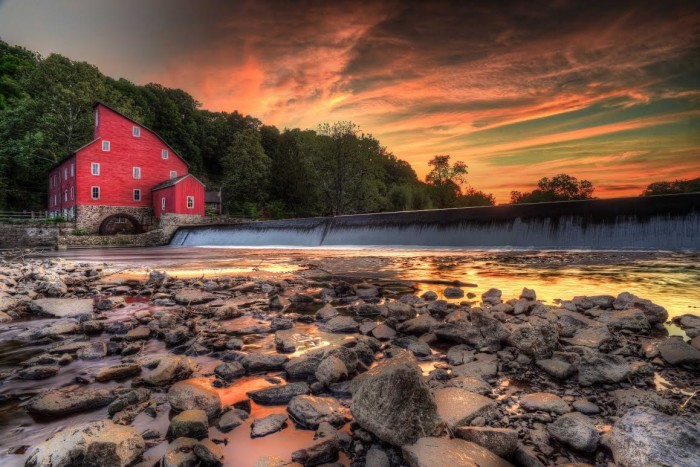 9. A breathtaking capture of Clinton's Red Mill, taken by Gary Aidekman.