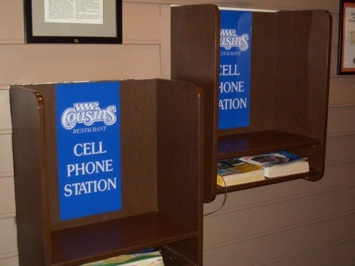 2. Refurbished phone booth.