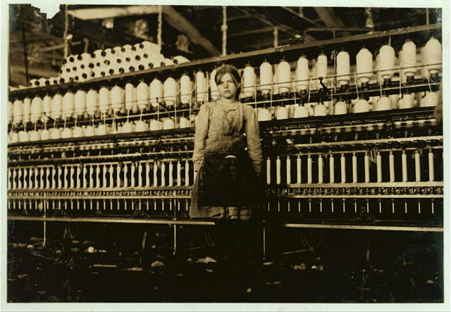 7. THEN: Twelve-year old Mamie Witt, works in the Cotton Mill in Roanoke to support her able-bodied, dependent father, 1911.