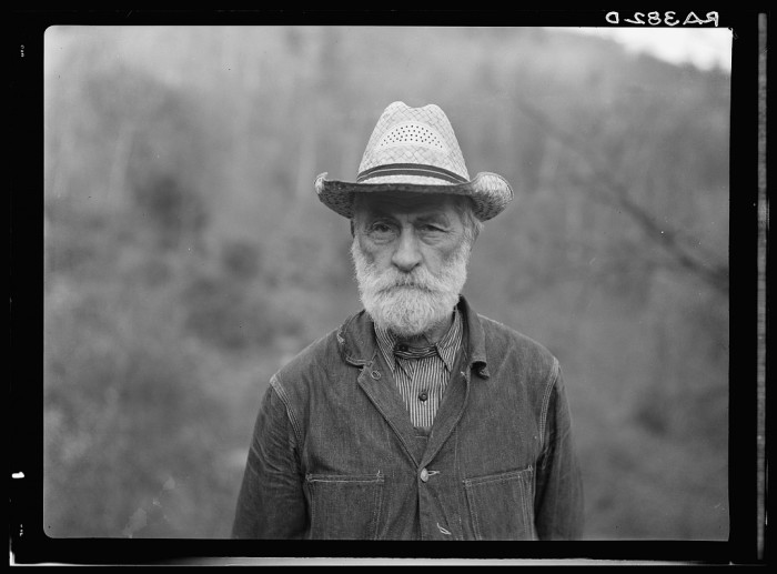 11. Russ Nicholson was one of the farmers who was displaced. When this photo was taken in 1935, he was grandfather to all of the Nicholson children living in Nicholson Hollow.