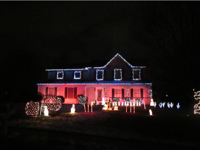7. This beautiful light display was in Harrisburg last season; we can only imagine that the same house has an even cooler display this year.
