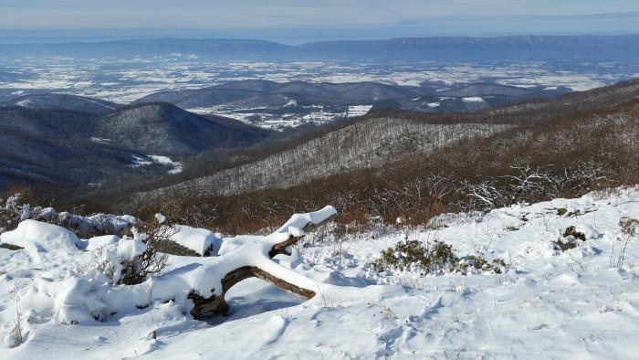 16. The snowy Shenandoah Valley near Luray makes a postcard-perfect winter scene.