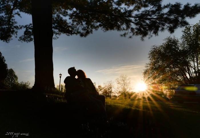 7. Sunburst at sunset