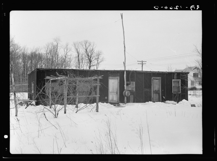 1. A tar paper house off of Amwell road in Franklin Township, near Bound Brook, 1936.