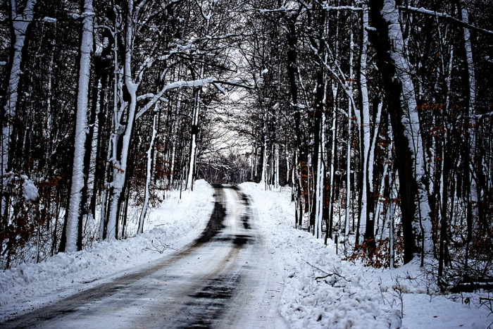 7. The road to Tarara Winery in Leesburg becomes even more picturesque in the snow.