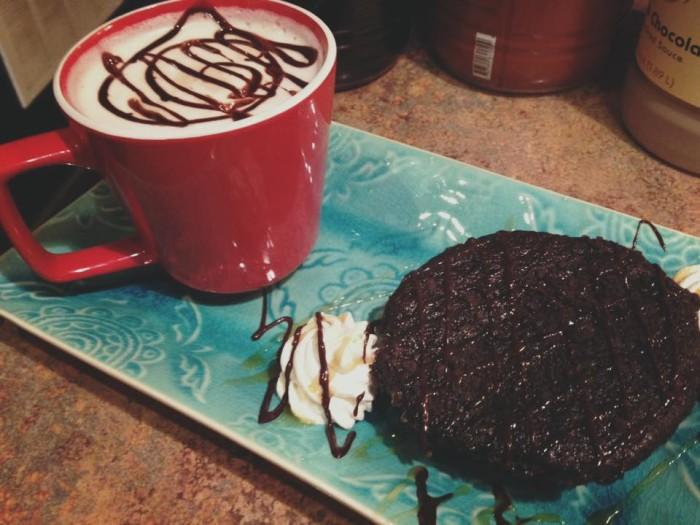 The Creme Coffee House food.