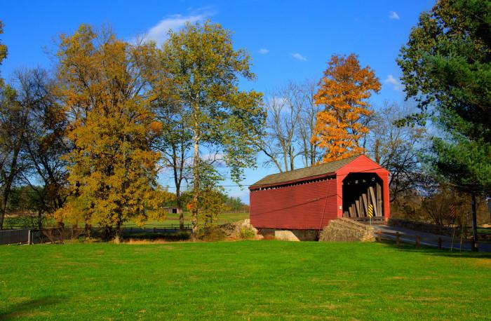 4) Loy's Station Covered Bridge, Thurmont