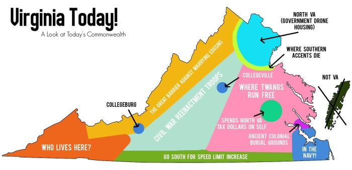 Things Virginia Will Never Ever Admit - Maryland map funny