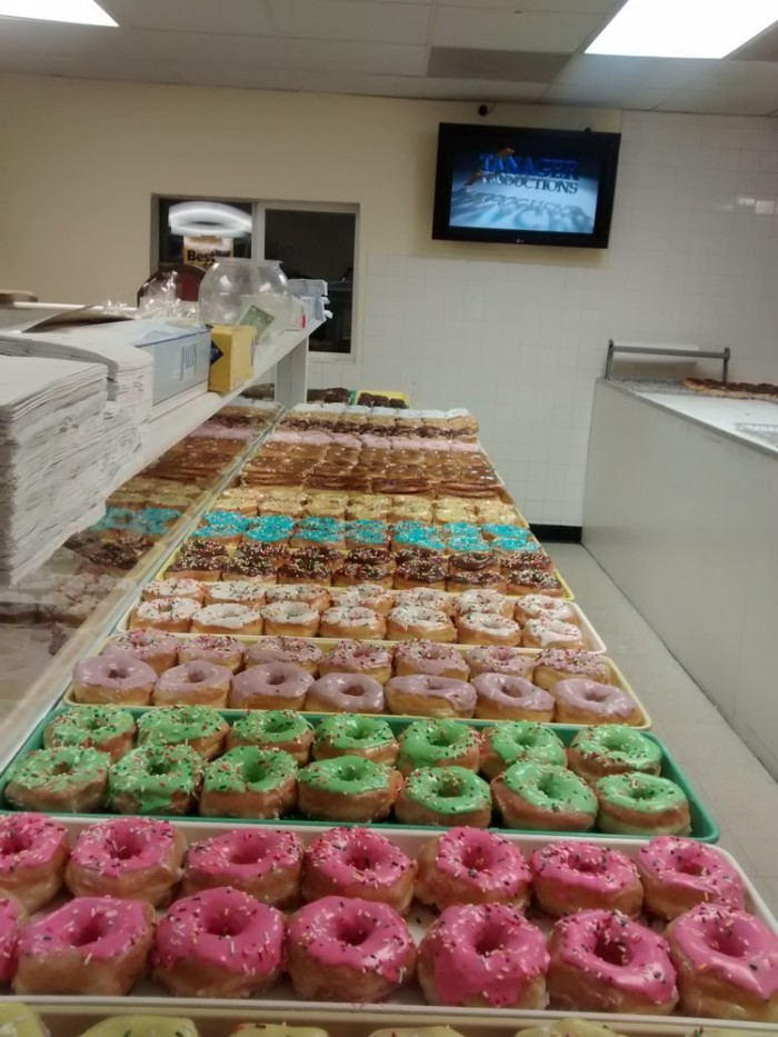 Whistle Stop Donuts selection.