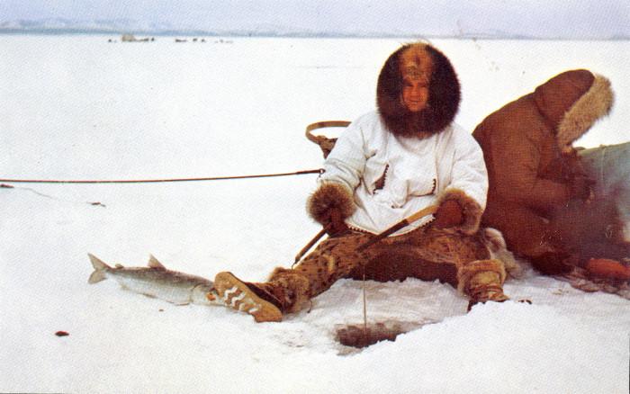 1) Winter Ice Fishing, undated