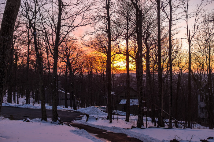 22. This vibrant winter sunset was captured at Wintergreen Resort in Nellysford.