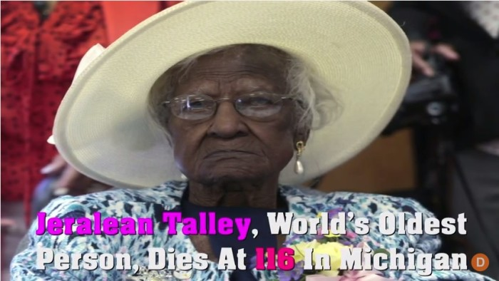 1) World's oldest person dies at 116.