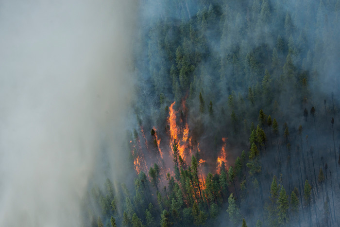11. In July, smoke from wildfires in Alaska made it all the way to South Carolina's coast before drifting offshore.
