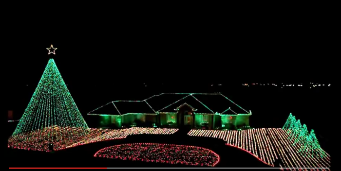10) The Roberts family in Andrews didn't stop with their house - they had to cover their entire lawn, too!