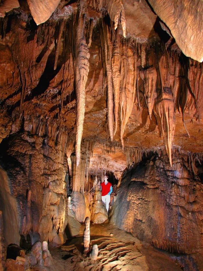 3. Go cave exploring in the Marengo Cave