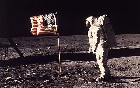 5. One small step for man.