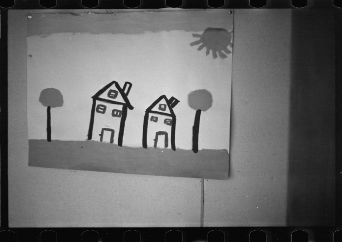 3. Here's some art work by school children at a nursery school in Reedsville, 1936.