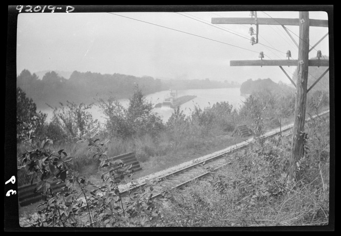 3. A barge goes down the Kanawha River in the vicinity of Eleanor.