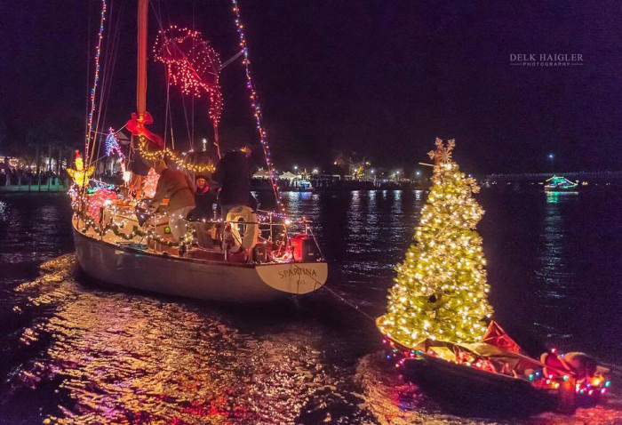 19. Beaufort's Christmas boat parade. Photo by Derek Haigler Photography.