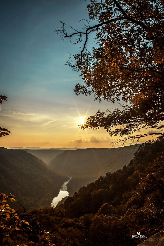 3. This sunset at Beauty Mountain in Fayette County