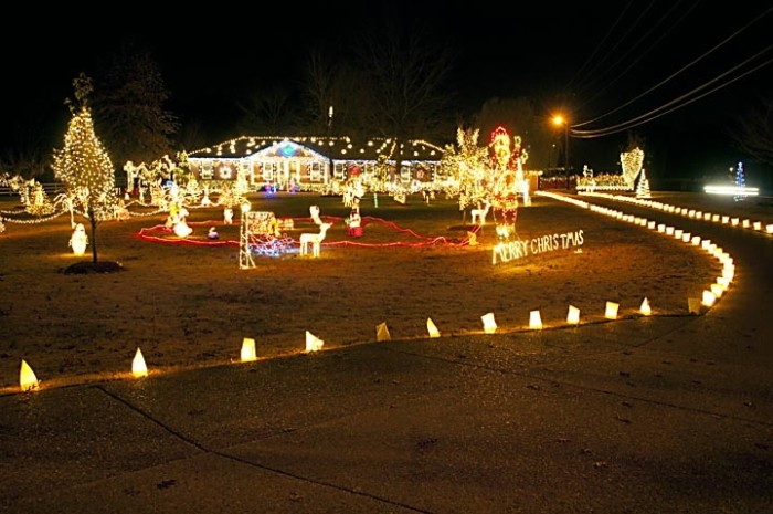 Pilot Mountain Christmas Lights
