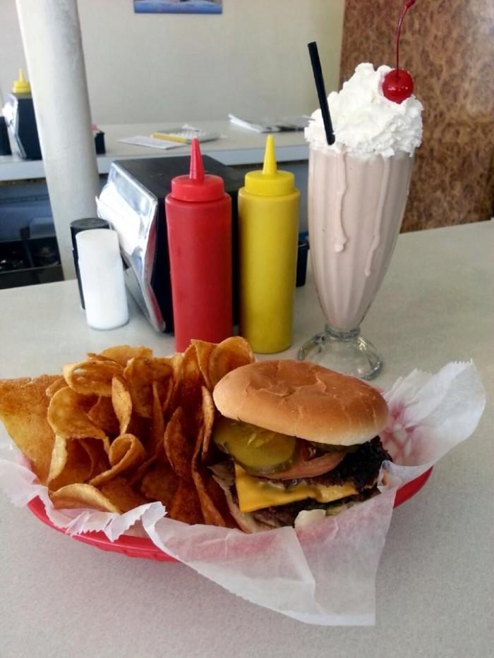3. Sinking your teeth into a Bobo's Burger.