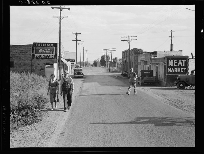 7. This was taken on a street in Buena, an area in the Yakima Valley, around August 1939.