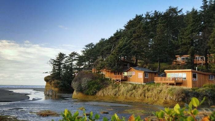 4. Make a cabin getaway at Iron Springs Resort in Copalis Beach.