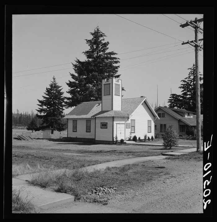 7. Here was a small town church in Tenino in 1939.