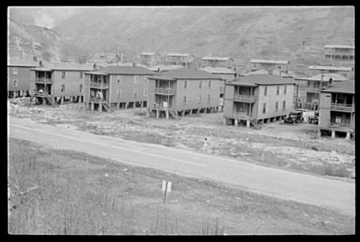 6. These coal company houses in Omar in 1935.
