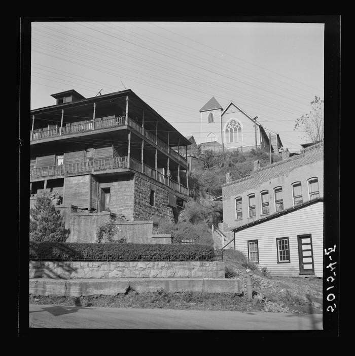 4. Here's a  shot of the coal town of Welch in 1938.