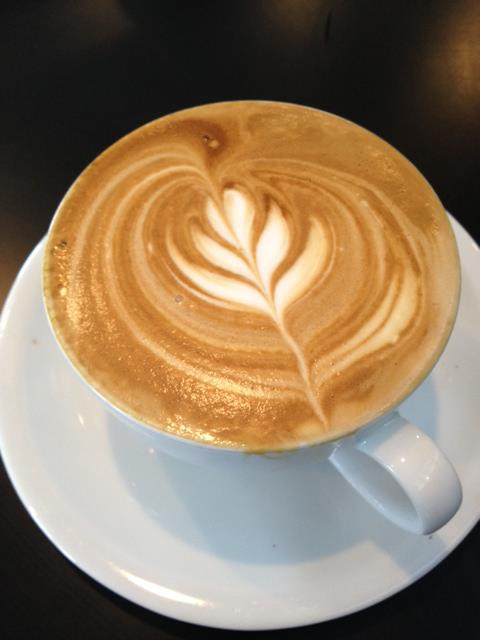 3. Having coffee at your favorite coffee shop