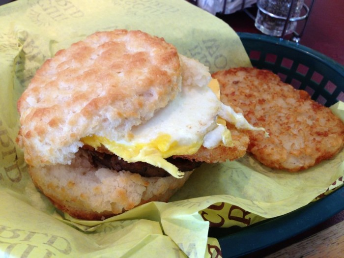 8. Delicious food you can get only around here -- like a Tudor's Biscuit.