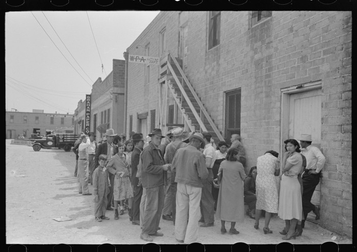 3. The Works Progress Administration was always there to assist the unemployed. These are potential employees of a clothing store in 1939.