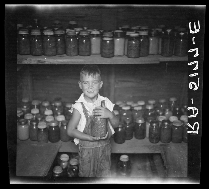 7. And this is his son looking so happy with how their pickled vegetables turned out.
