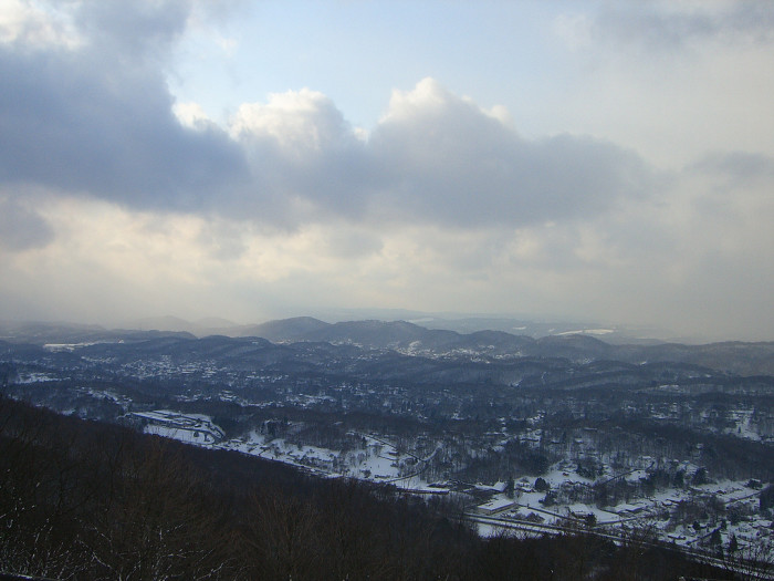 10. This snowy view from the East River Mountain Overlook in Bluefield.