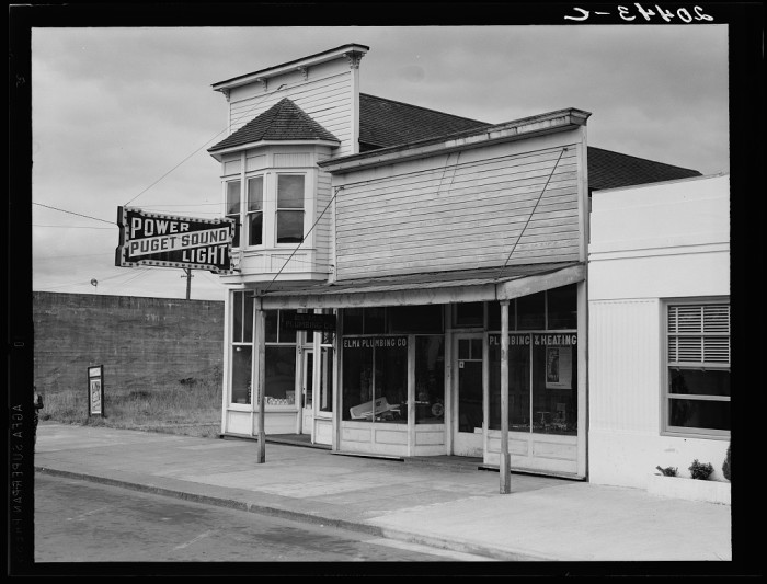 2. A charming old shot of Main Street in Elma, circa August 1939.