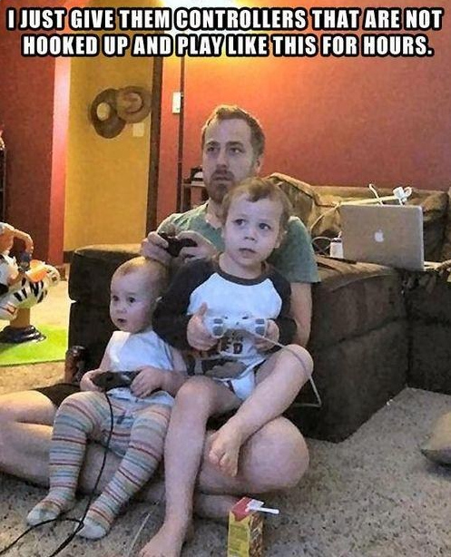 5. Giving your children an unplugged controller.