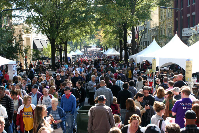 15. Head to the foothills to see fall colors at the Fall For Greenville Festival the 2nd weekend in October.