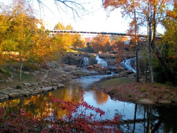 1. Falls Park on the Reedy - Greenville, SC