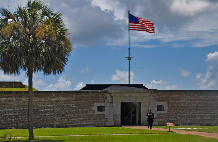 17. Which famous writer served in the military at Fort Moultrie on Sullivan's Island, SC?