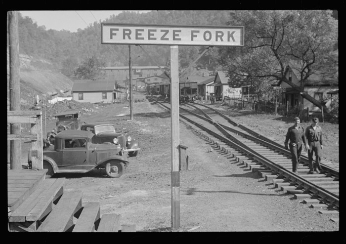 14. This shot that shows Freeze Fork in Logan County in the year 1935.
