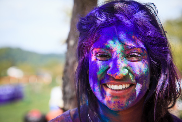 3. Get colorful at the World's Happiest Event in Moundsville