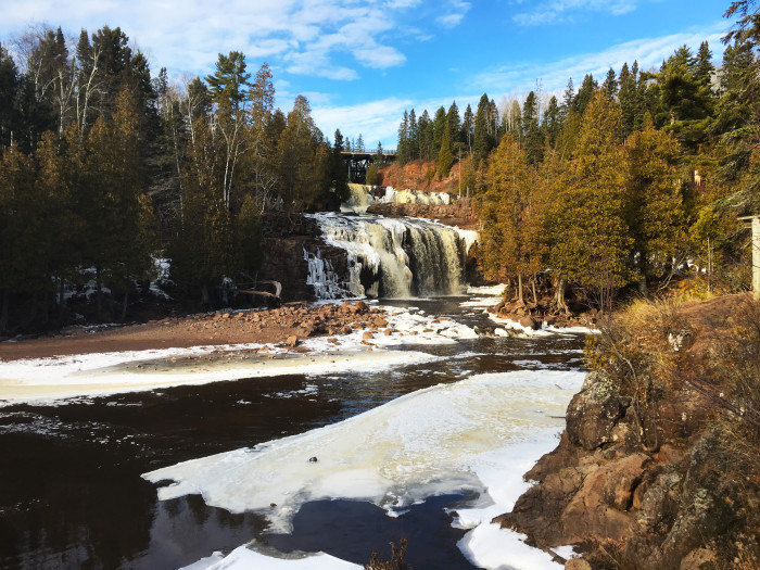 17. Gooseberry Falls is one of Minnesota's most stunning summer locations, and it's no different in the winter. The amazing frozen waterfalls are even climbable. You can also see all the way down to the North Shore, and the view is unforgettable.