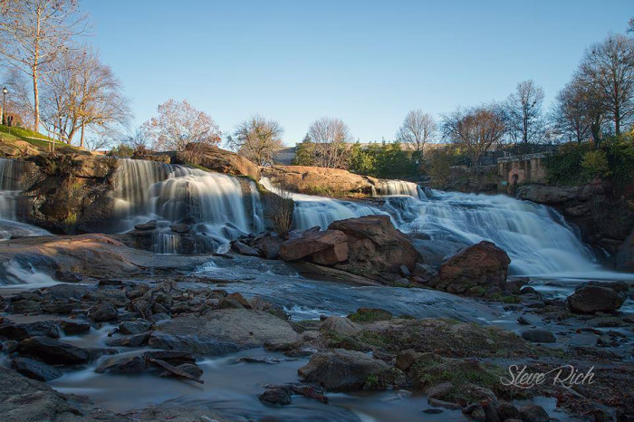 22. Greenville's Falls Park on the Reedy. Photo by Steve Rich.