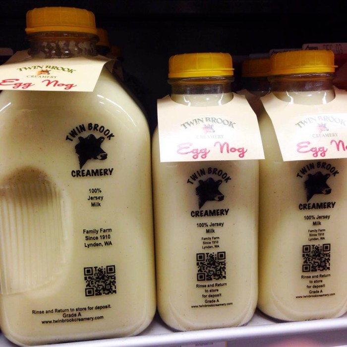 6. We have a creamery in Lynden that makes a wonderful eggnog this season.