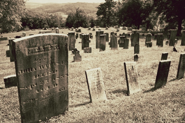 3. A woman stole headstones and used them in a fire pit.